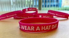 Brain Tumour Research - Wear A Hat Day Wristband - Pink