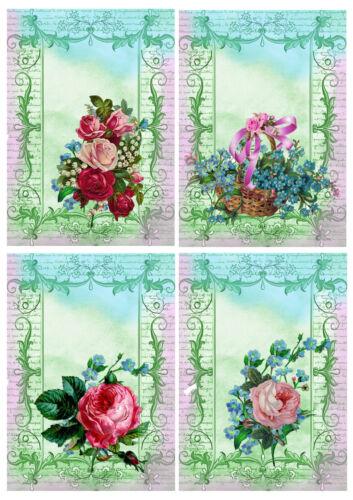 DECORAZIONI per carta rose vittoriane Card Making rottami LIBRO Embelishments Bricolage
