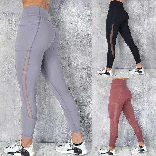 Women Seamless Yoga Pants High Waist Leggings Push Up Workout Scrunch Trousers
