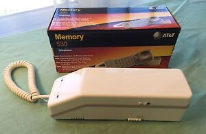 AT-amp-T-Memory-530-Corded-Telephone-White-Brand-New-In-Box