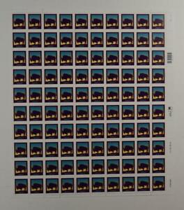 US SCOTT 3467 PANE OF 100 BISON STAMPS 21 CENT FACE MNH
