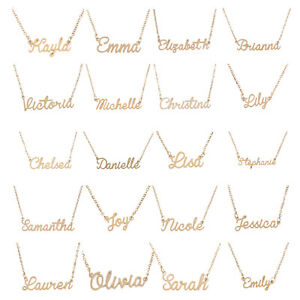 Choker-Custom-Name-Pendant-Chain-Customized-Nameplate-Necklace-Jewelry-Xmas-Gift