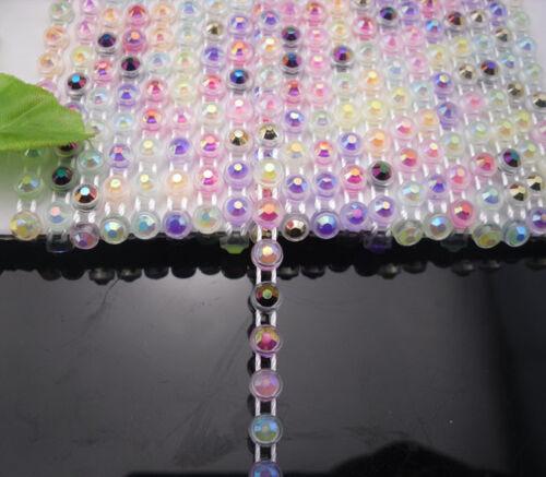 10 Yd environ 9.14 m SS12 plusieurs couleur Jelly Aérographe strass Bandes Trim Plastique Chaîne bas