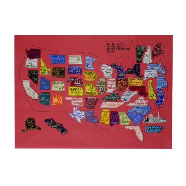 United States Map Magnets.Buy United States All 50 Us State Fridge Magnets Puerto Rico Pr