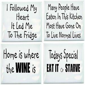 Kitchen Tile Transfer Humor Pack of 4 Fun Quotes Ceramic Tile ...