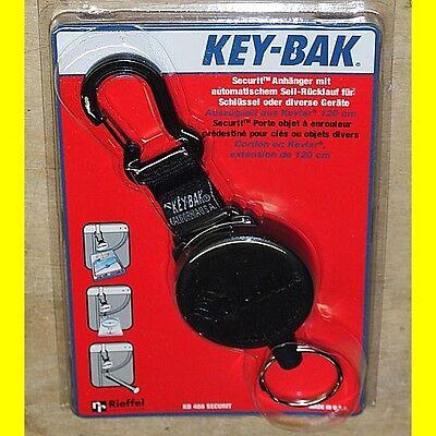 Karabiner Key-Bak KB 6 C Anhänger mit automatischem Rücklauf Seil Kevlar 90 cm