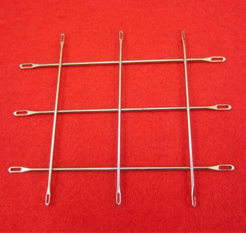 Set 2x 3 capes aiguilles 4.5-5.0 u 6.3-9.0mm Double Eye Needles tricot machine