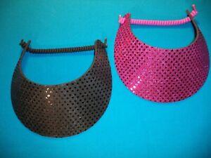 b672445a5 Details about SEQUIN Women Ladies Sun Visor Hat, No Headache Foam, Shiny  Silver Gold Black