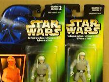 STAR WARS The Power of the Force LUKE SKYWALKER x 2 on Cards w. Blaster Pistol *