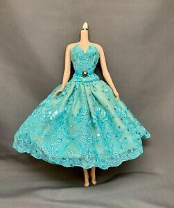 OOAK Lace & Tulle Aqua Tea Dress - Fits Silkstone or FR - Beautiful Construction
