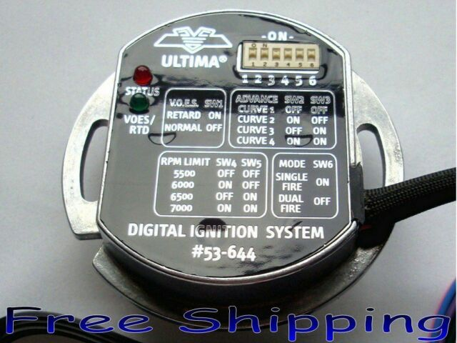 Dyna 2000i Ultima Programmable Single Fire Ignition Kit Module Harley  Shovelhead