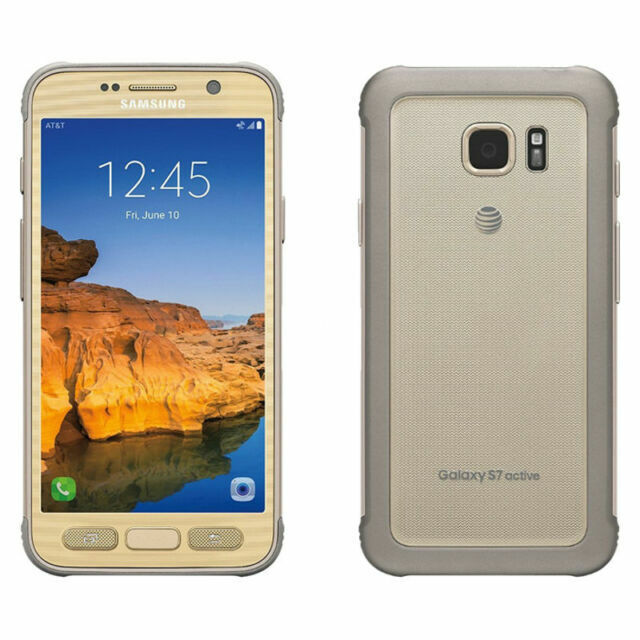 Samsung Galaxy S7 Active Sm G891a 32gb Sandy Gold At T For Sale Online Ebay