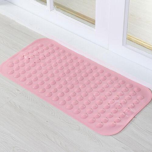 Strong Suction Anti Non Slip Bath Shower Mat PVC Foot Massage Bathroom Rubber