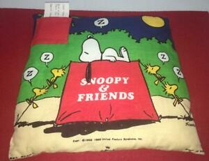 TOOTH-FAIRY-SNOOPY-WOODSTOCK-PEANUTS-PILLOW-HALLMARK-DOGHOUSE-ZZZ-VINTAGE
