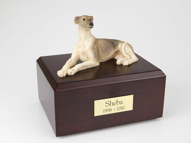 prezzi bassi di tutti i giorni grigiohound Laying Pet Funeral Funeral Funeral Cremation Urn Available in 3 Diff Colores & 4 Dimensiones  best-seller