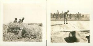 WWII 1940's US Army Ft Benning GA at range 2 photos