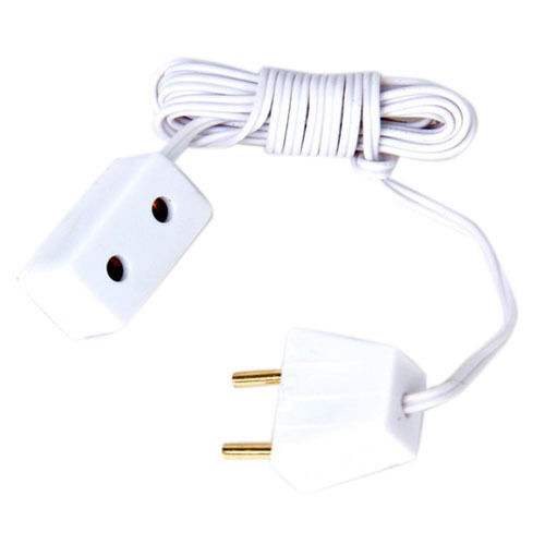 White Dollhouse Miniature Working Electric Power Extension Cord H8X8