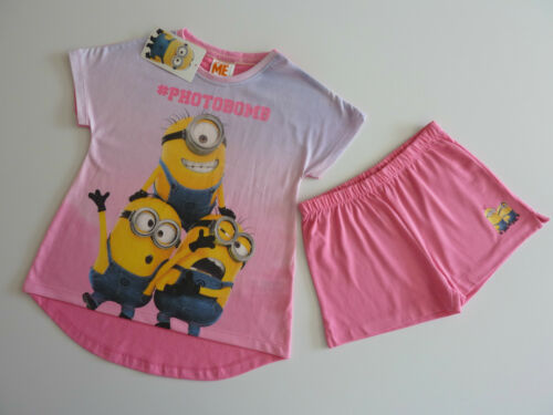 DESPICABLE ME PhotoBomb Girls Pink PJ/'s 6-7 Years NWT