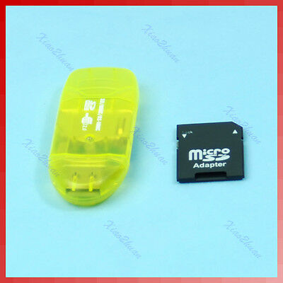 USB 2.0 SD MMC Card Reader And T-Flash to Micro SD Adapter