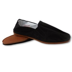 7478c2e76 Details about Easy USA Mens Canvas Slip-On Kung Fu/Tai Chi Shoes-Rubber Sole -Black-Mult. Sizes