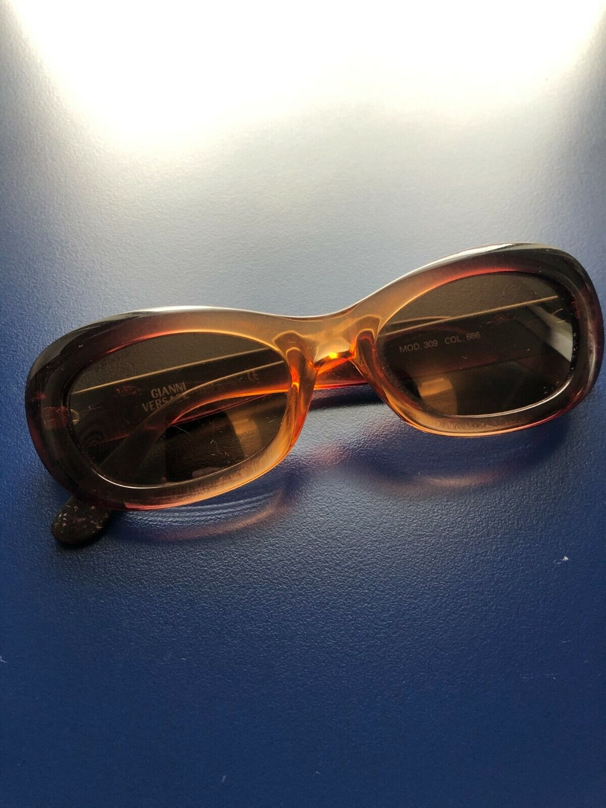 Vintage Gianni Versace brown gradient sunglasses - image 1