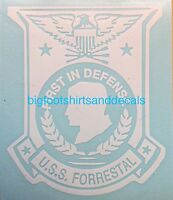Uss Forrestal Cva 59 Cv 59 Window Decal Aircraft Carrier Navy Med Cruise Sticker