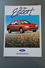 Sales Brochure Ford Escort Mk5 MKVI UK 1990 All Models