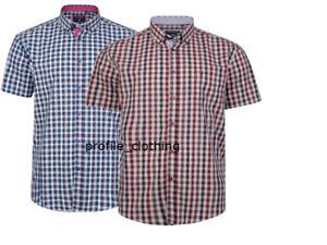 KAM-Mens-Big-amp-Tall-Short-Sleeve-Retro-Check-Shirt-2XL-3XL-4XL-5XL-6XL-7XL-8XL