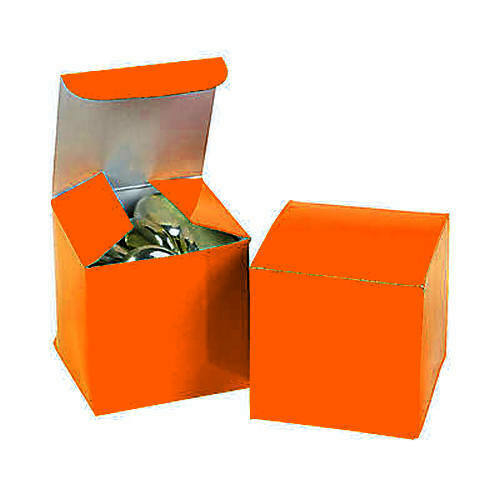 Pack of 12 Small Party Gift Boxes Mini Orange Favor Boxes