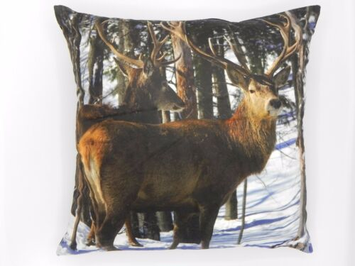 Cute /& Cuddly Supersoft Stags Cushion Covers dans faux Velvet 45x45cms