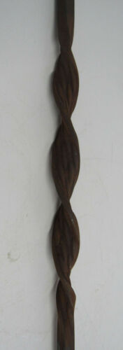 """47/"""" SOLID IRON SINGLE RIBBON TWIST BALUSTER STAIR RAIL UNFINISHED**RUSTY*****"""