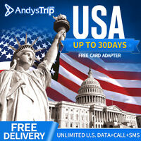 【USA.America Sim Card】4G Unlimited Data for up to 15 Days within North America
