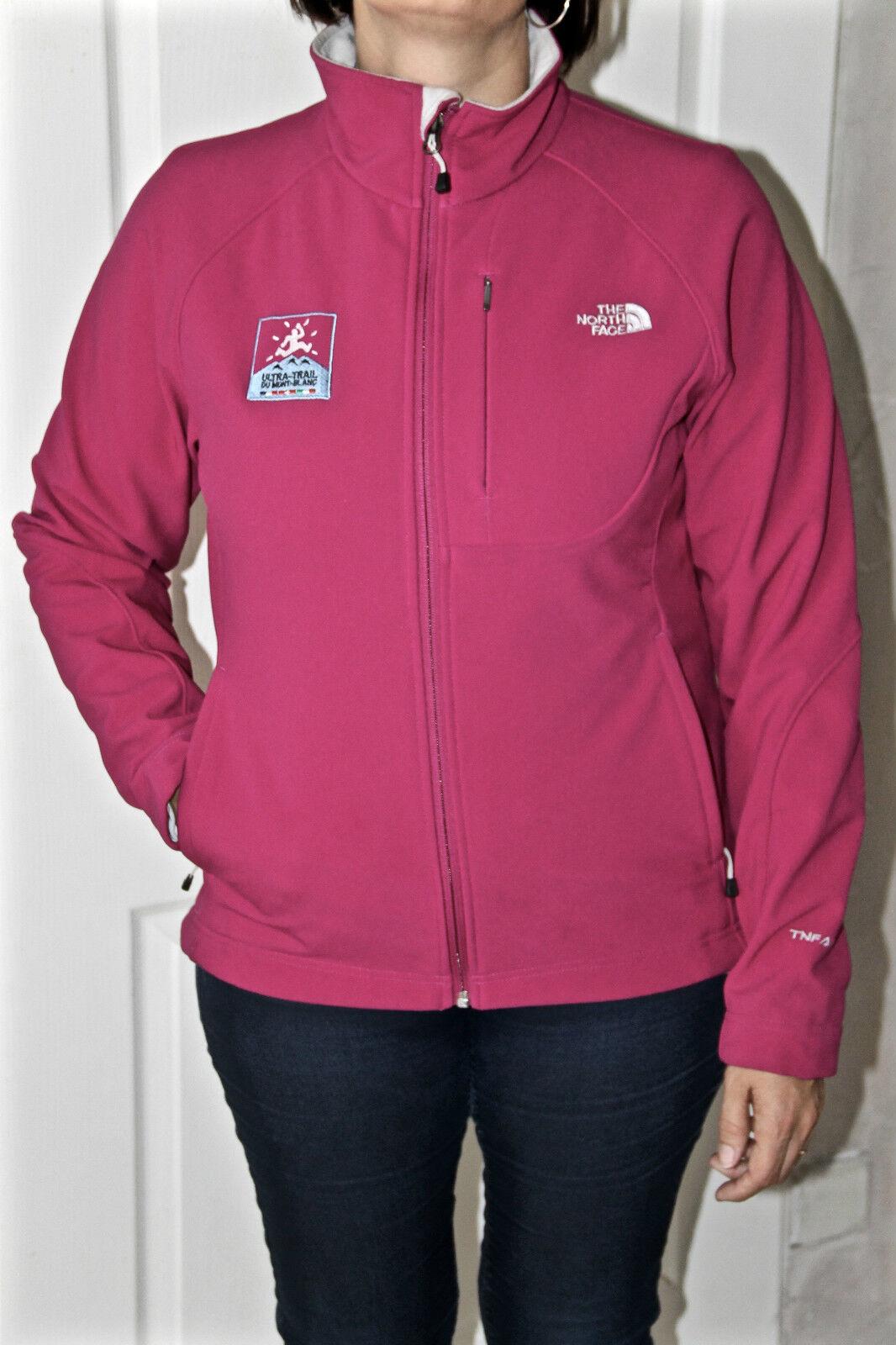 Veste zippée pink ultra trail du Mont white THE NORTH FACE tnf apex T L G