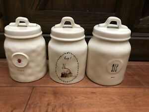 Rae-Dunn-Ladybug-Rabbit-Hop-Eat-Dragonfly-Canister-Jar