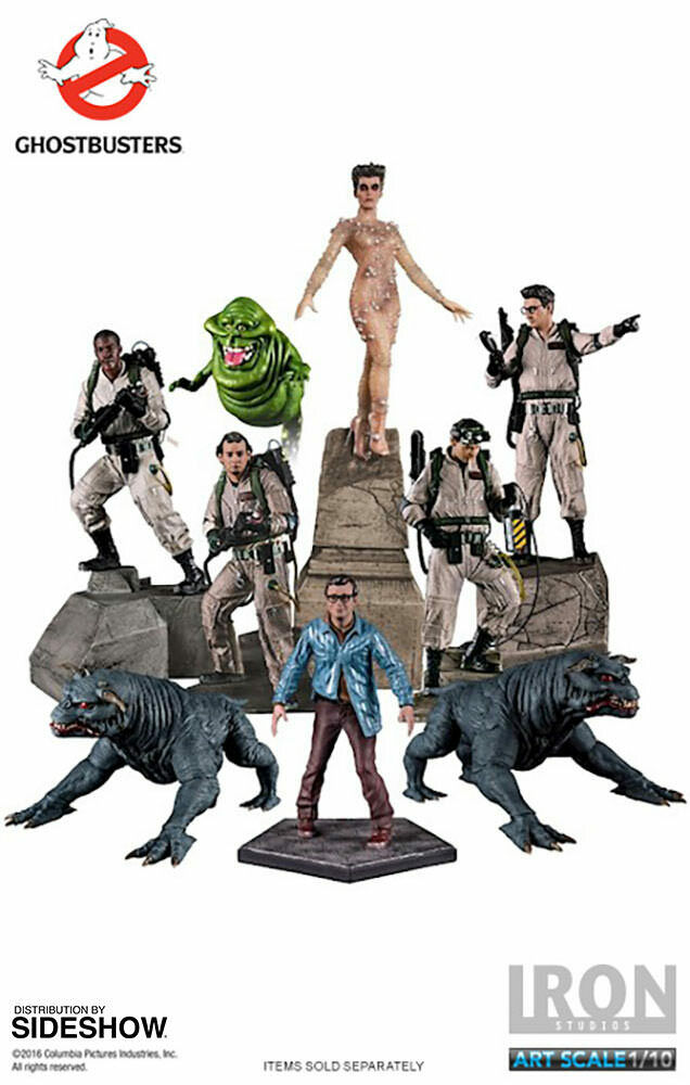 GHOSTBUSTERS COMPLETE SET 9 Sideshow-Iron Studios 1 10 Statue_US DEALER_NRFB