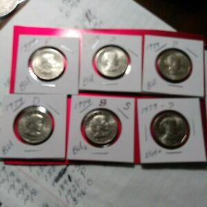 1979 D,P,S Susan B Anthony Coins All  Brilliant Uncirculated Coin Lot Of 6