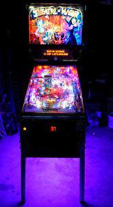 Star Trek TNG, Dirty Harry, Theatre of Magic Pinball Cabinet light mod Purple