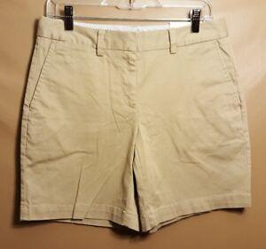 "New Lands End Women's Chino 10/"" Khaki Shorts Plus Size 32W or 34W FREE SHIPPING!"