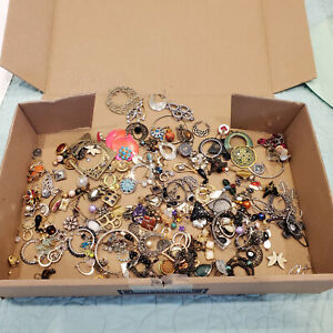 Jewelry Lot 1.6 lbs Pounds Vintage to Now Single Earrings For Crafts Crafters