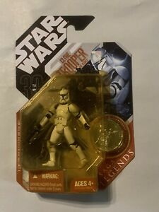 Star Wars Saga Legends Clone Commander w// Coin
