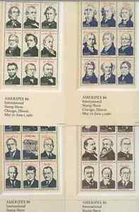 US PRESIDENTS 4 SHEETS SERIES WASHINGTON KENNEDY WITH ORIGINAL ENVELOPE BOOK 30