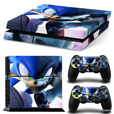 PS4 Playstation 4 Console Skin Decal Sticker Sonic The Hedgehog Cartoon Design