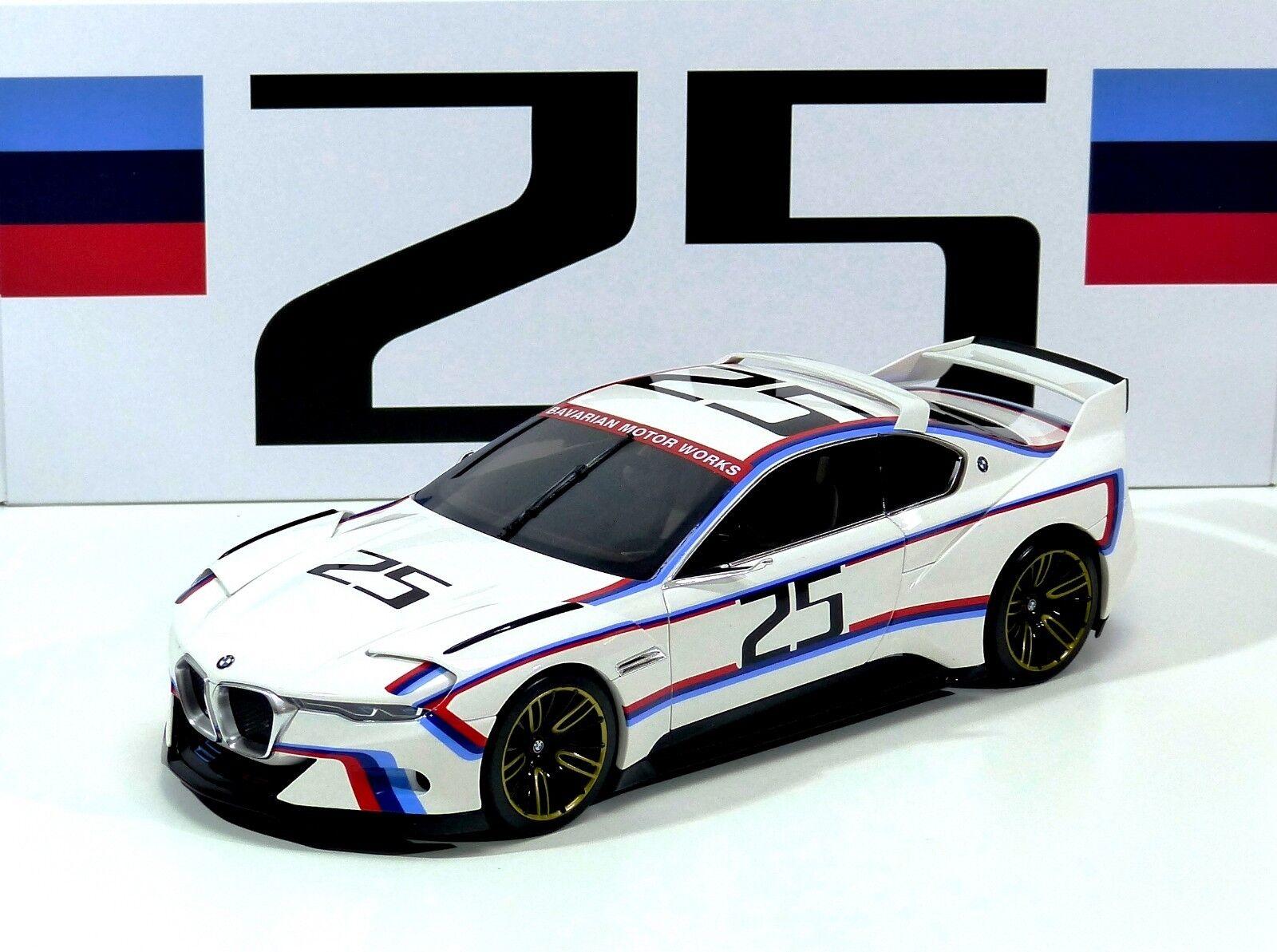BMW 3.0 3.0 3.0 CSL R Peddle Beach white BMW MOTORSPORT COLLECTION Norev 1 18 Neu OVP 87ca03