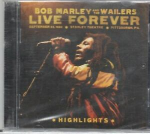 Vivere-per-sempre-Bob-Marley-I-Wailers-STANLEY-TEATRO-Pittsburgh-evidenzia-CD-NUOVO