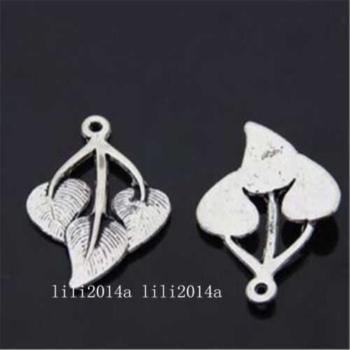 10pc Tibetan Silver leaves Charm Beads Pendant Jewellery Making  PL856