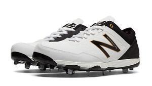 51b05ec15 New Balance Baseball Cleats White Black Grey Mens Minimus Low-Cut ...