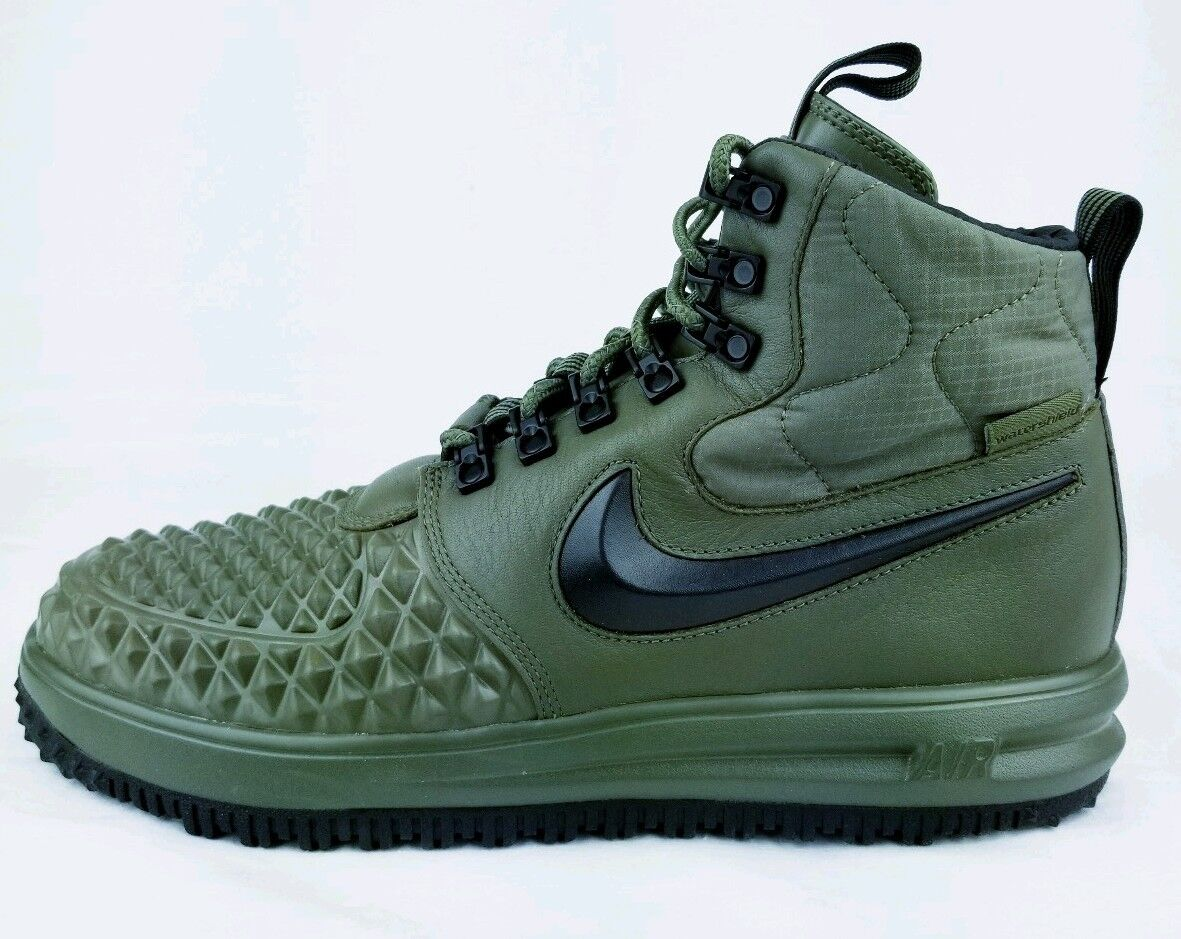 NIKE LF1 Lunar Force 1 Duckboot 17 Mens shoes 916682-202 Olive Green Sz 10.5