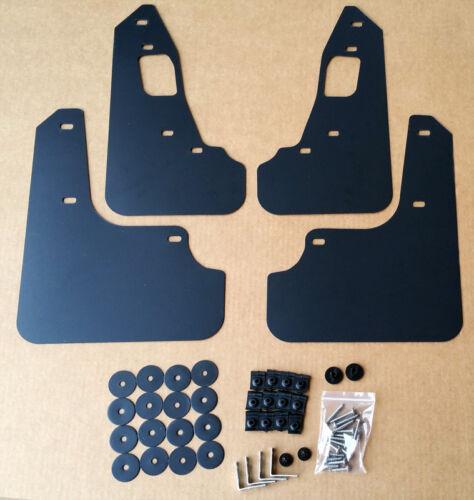 StreetRays 08-15 Mitsubishi EVO X Mud Flaps Set BLACK w// Logo /& Hardware Kit