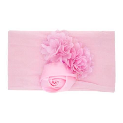 Baby Girls Solid Lace Ribbon Hair Bows Headbands Big Bow Hair Bands for Toddler