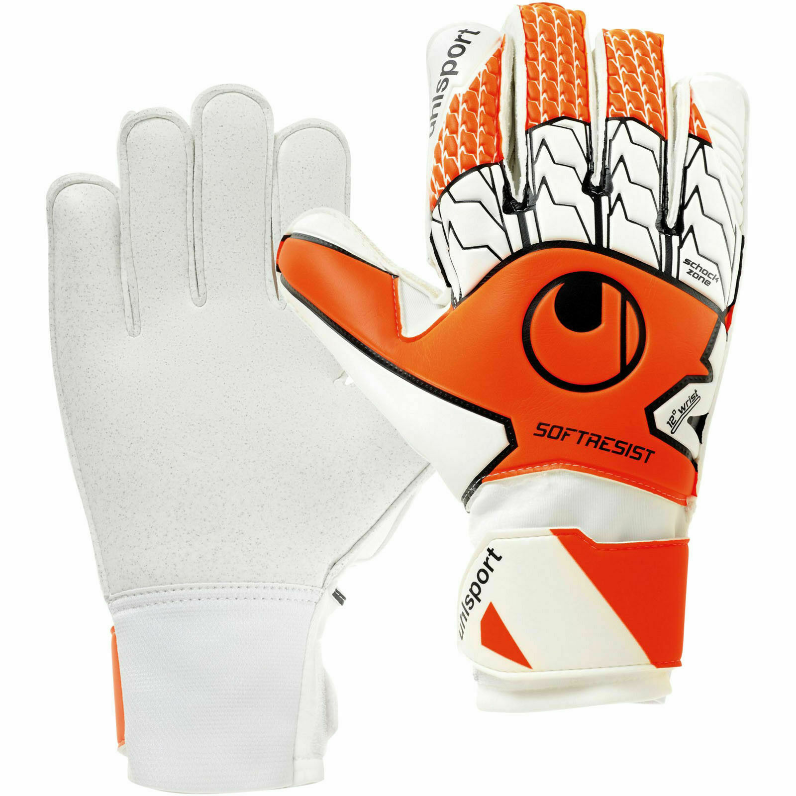 Uhlsport 101110901 Soft Resist Fuo Handschuh Torwart orange-white-black